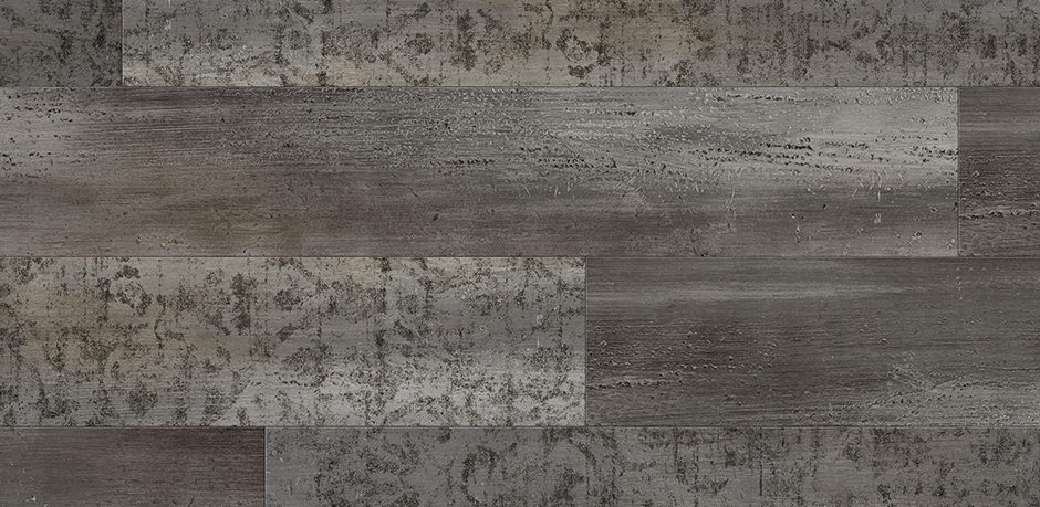 Bild: Damask Washed Wood  Midnight Black