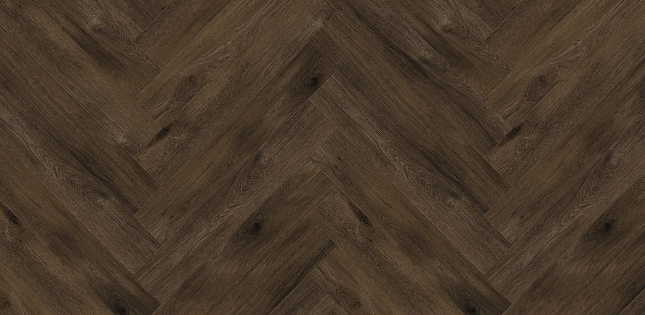 Bild: Perfect Oak - Herringbone Raven Brown