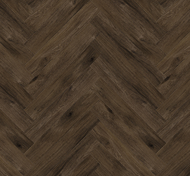 Perfect Oak - Herringbone Raven Brown swatch