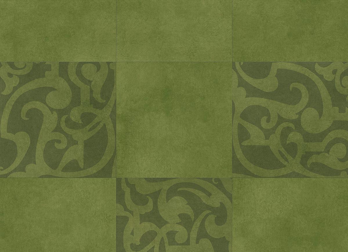 muestra de Midtown Prism Green tamaño completo