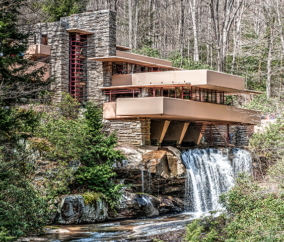 Frank Lloyd Wright Falling Water building