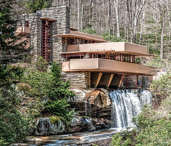 Falling Water-Gebäude von Frank Lloyd Wright
